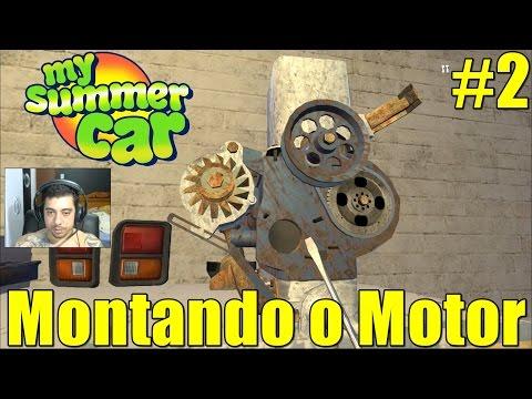 🚙 My Summer Car - Montando a Primeira Parte do Motor com o Getaway Driver - #2