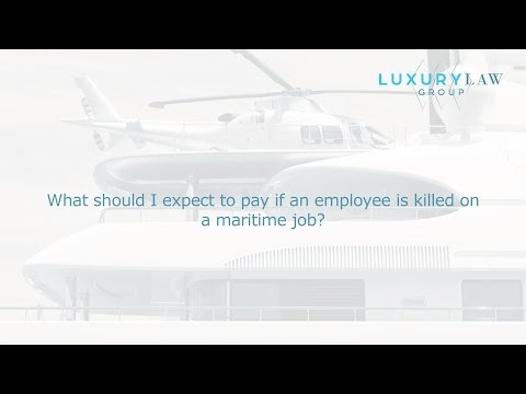 What should I expect to pay if an employee is killed on a maritime job?