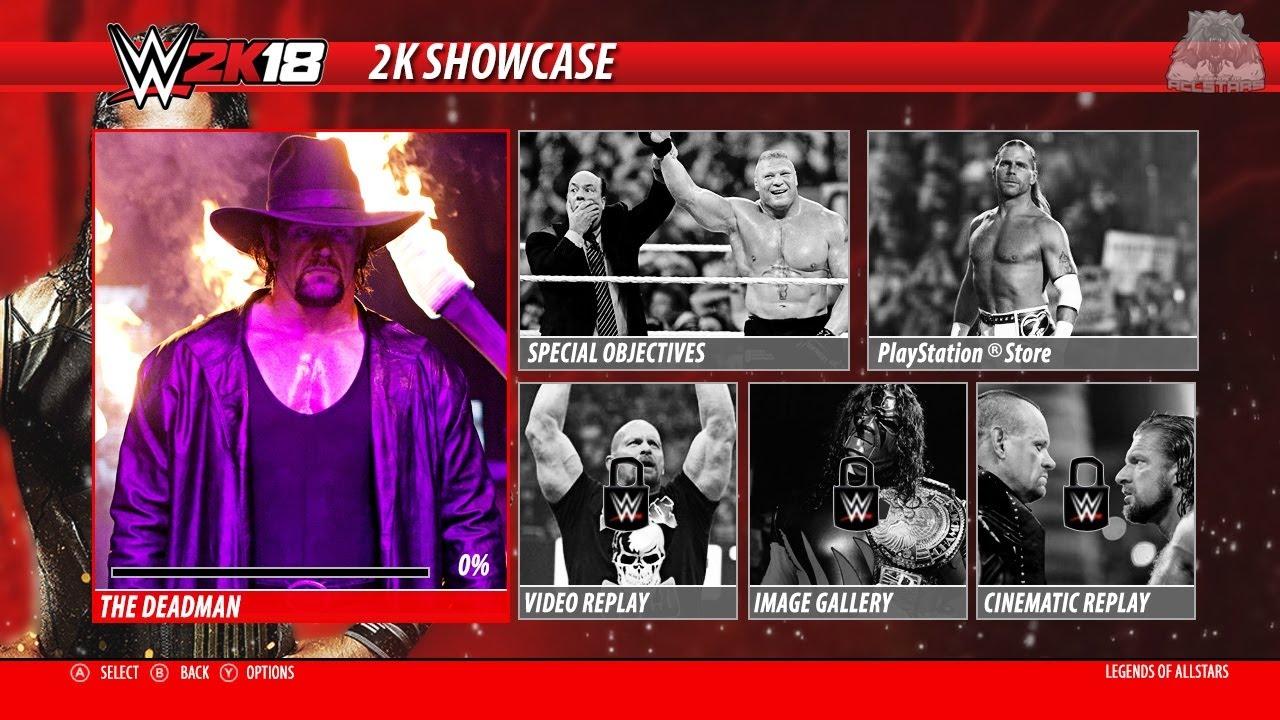 WWE 2K18 2K Showcase Mode THE DEADMAN Gameplay