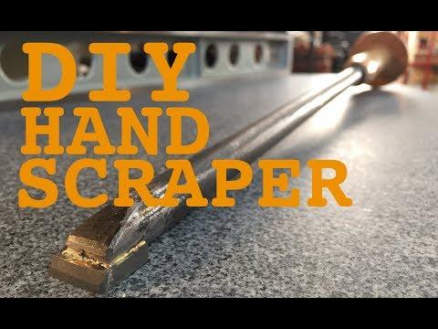 DIY hand scraper for machine restoration. Lathe project 0