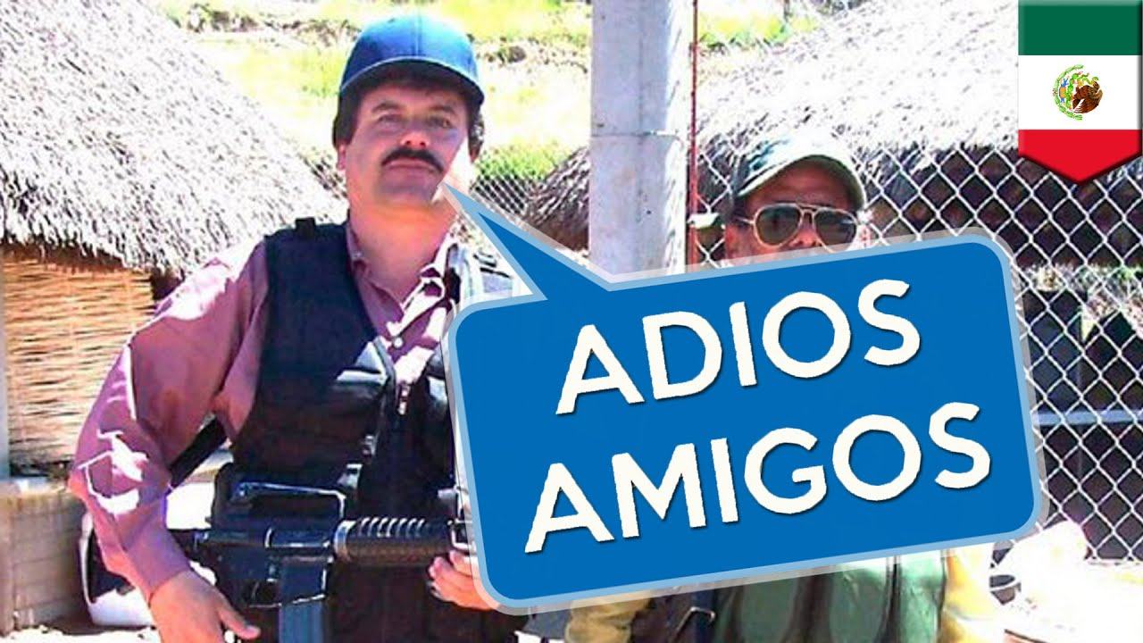 el chapo guzman prison break  el chapo says adios to