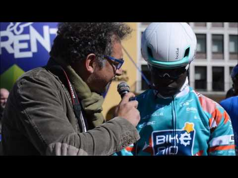 Salim Kipbemboi at Tour of the Alps stage 4 eve