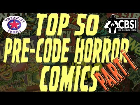 Top 50 Pre-Code Horror Comics: Part I (50-21)
