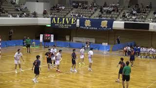 10日 ハンドボール男子 あづま総合体育館 Aコート 法政二×氷見 決勝 1