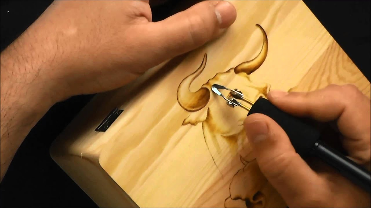 Pyrography project youtube