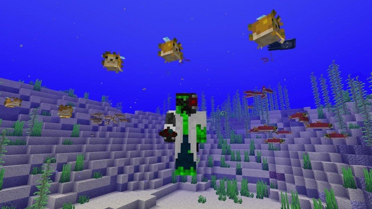 Minecraft 1.13 Snapshot 18w08 - REAL FISH! SO AMAZING ...
