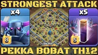 STRONGEST ATTACK 2019 ! PEKKA BOBAT TH12 3 STAR ATTACK STRATEGY IN CLASH OF CLANS