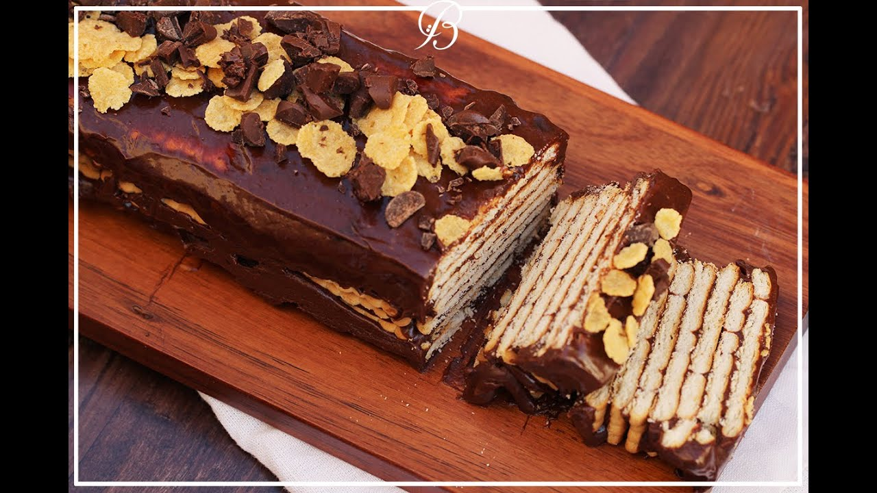 طبقات الشوكولاته والبسكويت | chocolate biscuit cake
