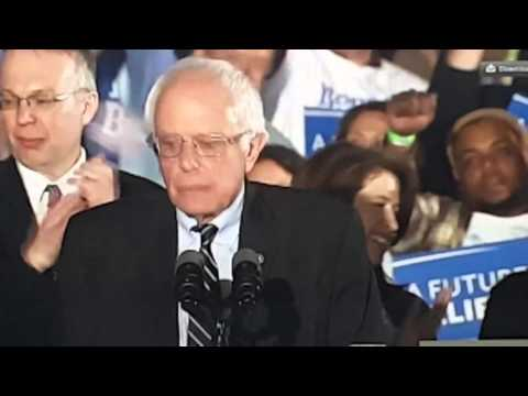 Ai NETWORK live broadcast - Bernie Sanders, delivering his victory speech