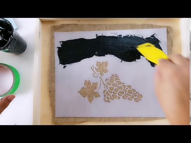AbraCadAbra - Creating Kitchen Decor using Phenomena Paint and Raised Stenciling Powder