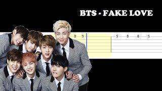 Gambar cover BTS - Fake Love (Easy Guitar Tabs Tutorial)