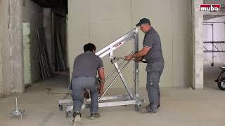 Stahlträger einbauen mit müba Kragarmlift