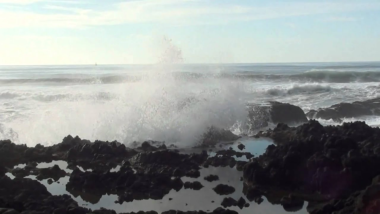 3k In Miles >> HD Nature Relaxation - Ocean Waves splash against rocks ...