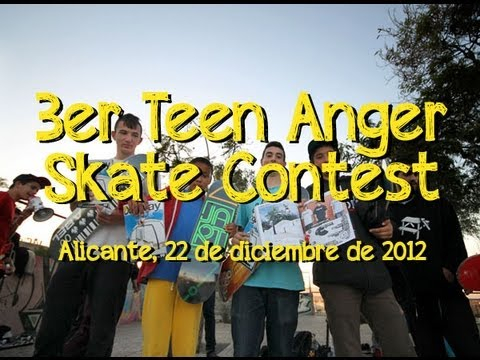 3er Teen Anger Skateboarding Contest - Alicante, 2012