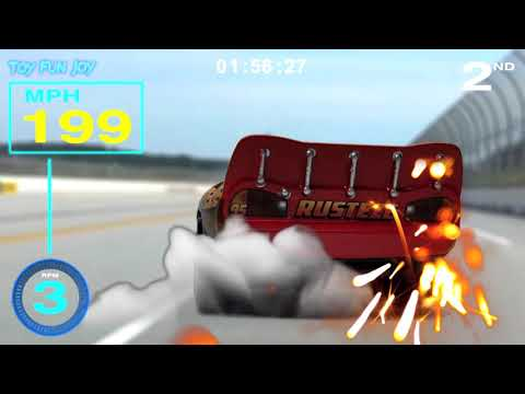 Cars 3 Storm Vs McQueen Race Video Game Simulator with WALL-E Auto Stop Motion