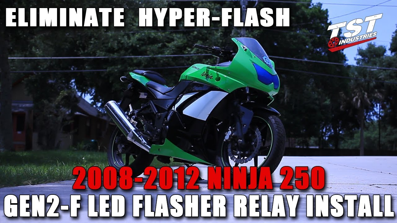 How To 2008 2012 Ninja 250r Led Flasher Relay Installation By Tst Emergency Light Switch With For Turn Signal And Pictures Industries