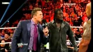 WWE The Rock, John Cena & Awesome Truth segment RAW 11/14/11