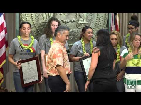 Hawaii Basketball Teams Honored With Rally, Proclamations