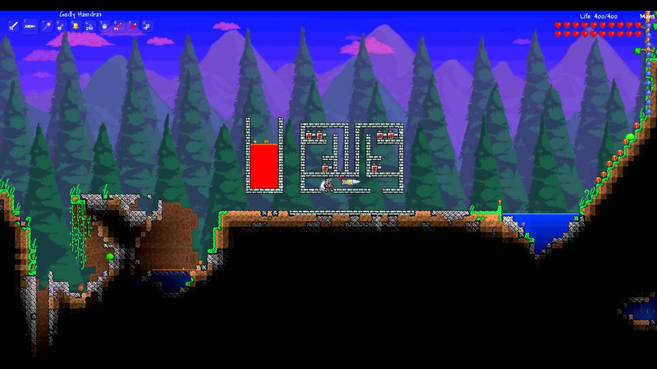 terraria 1 1 how to build an infinite obsidian generator with pumps rh youtube com terraria wiring pumps Terraria Pressure Plates