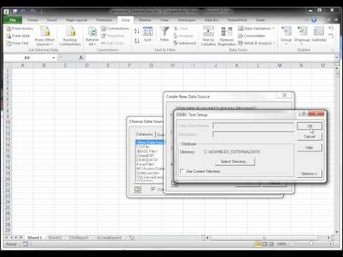 Connecting a Pivot Table to External Data