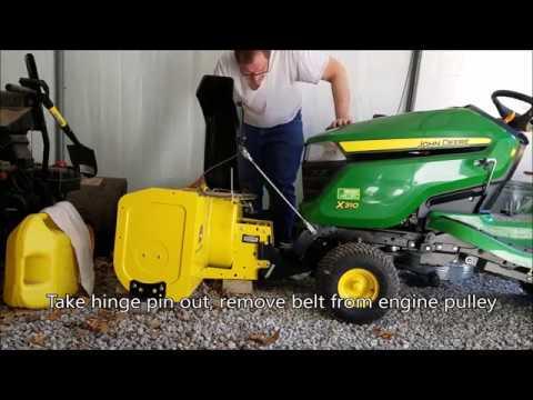 x310 John Deere: Spring Swap: Snowthrower for Mower Deck and Bagger