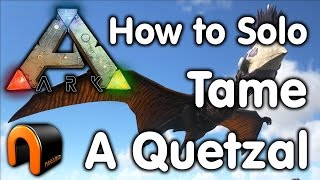 Ark How To Solo Tame A Quetzal