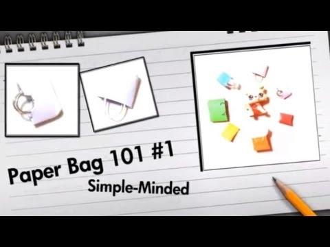 How To: Paper Bag 101 #1 Simple-Minded Handbag (LPS)
