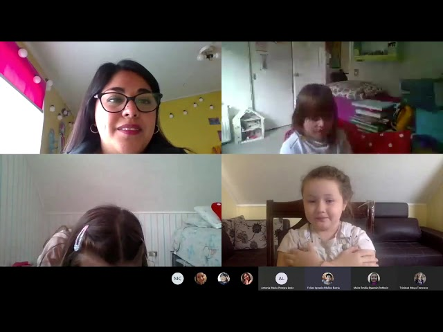 Our Primary School Bilingual Students Speaking English in Online Classes.