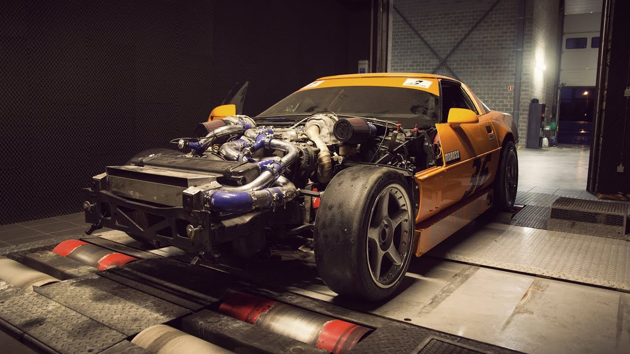 twin turbo corvette c4 on the dyno 710hp youtube. Black Bedroom Furniture Sets. Home Design Ideas