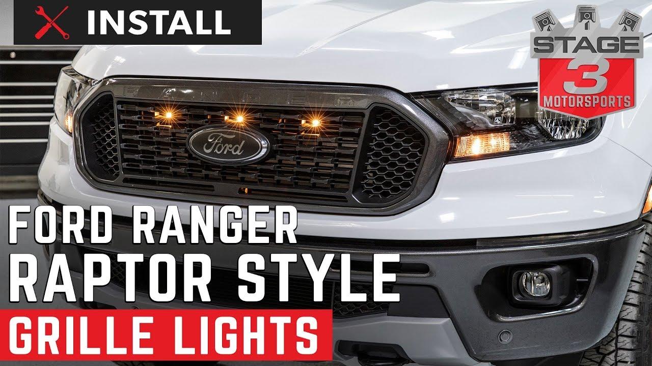 2019 Ranger Custom Auto Works Raptor Style Led Grille Light Kit Install
