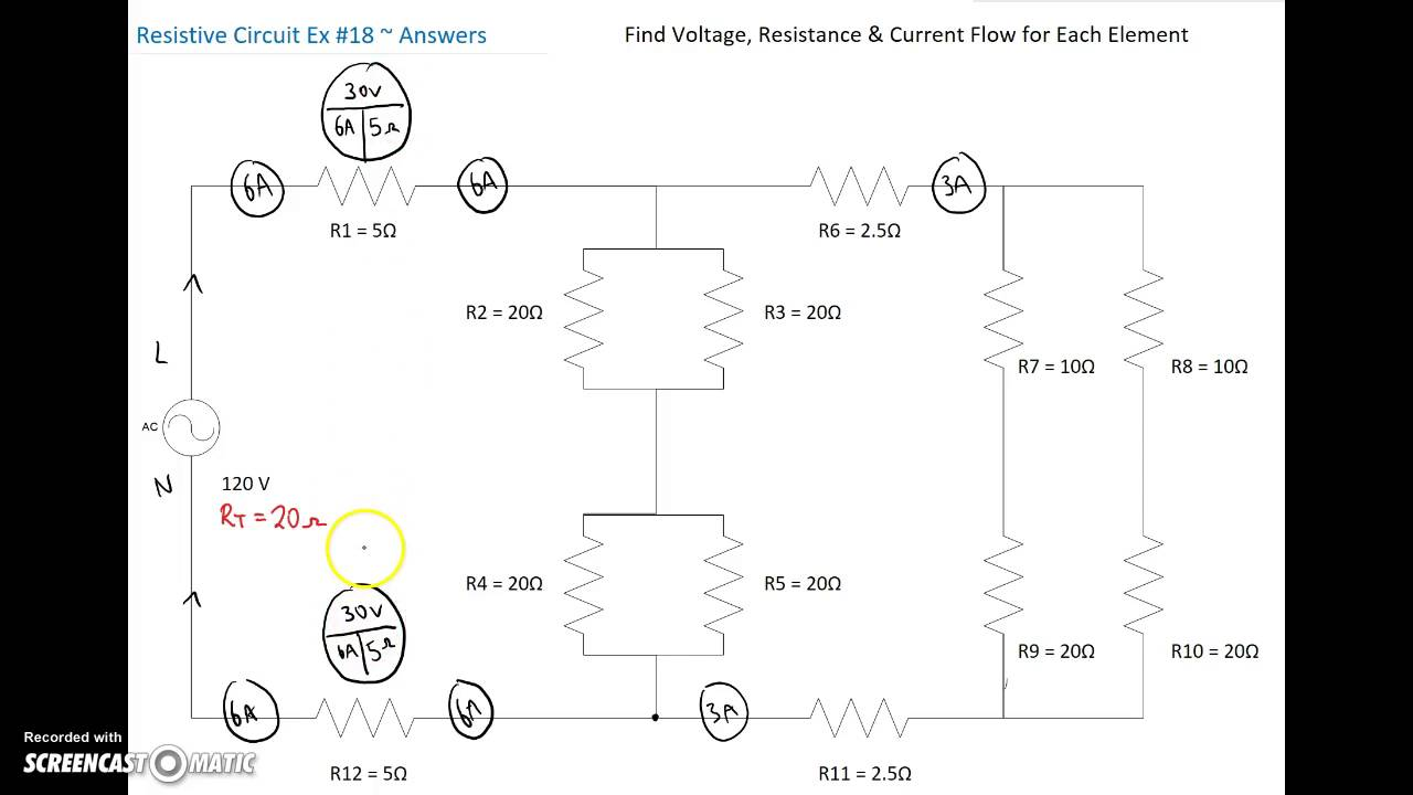 small resolution of series parallel combination circuit 18