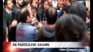 Beşiktaş'ta AK Partililere Saldırı