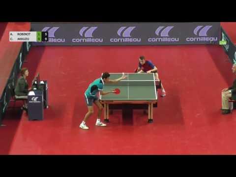 Alexandre Robinot Can Akkuzu Championnat De France Tennis De Table 2017 Youtube
