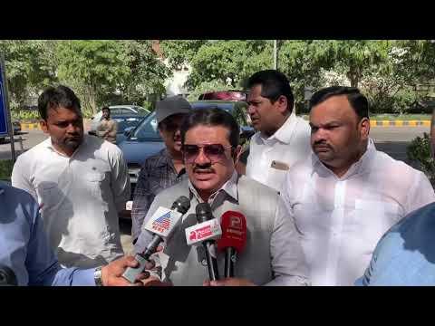 Addressing Media Regarding the Municipal Administration  Minister of Karnataka Shri C S Shivalli Ji