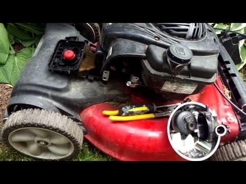 How to Fix Yard Machines Lawn Mower that does not start from Home Depot 550E 140cc Briggs & Stratton