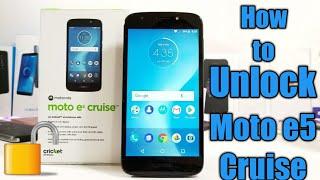 How to Unlock Moto e5 cruise
