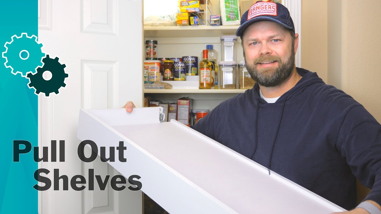 How To Make Pull Out PANTRY Shelves From IKEA Drawers Easy
