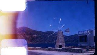 8mm Home Movies: Crete Ag. Nikolaos Chania - Greece 1971 / DIY Frame by Frame Telecine