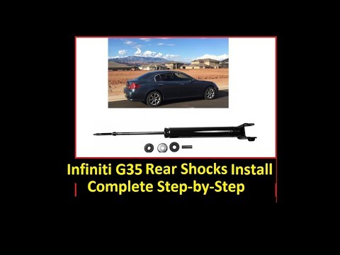 How to install rear shock: 03-06 Infiniti G35