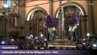 Salida del Señor de los Milagros de su Santuario - 18 de Octubre del 2015