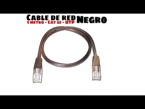 Video de Cable de red UTP CAT5E 1 M Negro