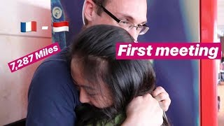 FIRST MEETING - LONG DISTANCE RELATIONSHIP | FRANCE - INDONESIA