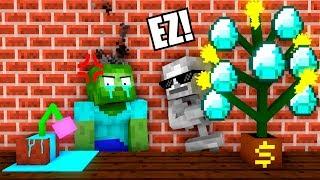 Monster School : Plants Challenge - Minecraft Animation
