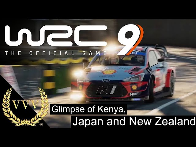 WRC 9 - Glimpse of Kenya, Japan and New Zealand