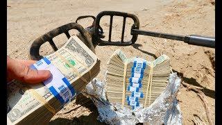 FOUND MONEY METAL DETECTING ABANDONED STASH HOUSE!!!