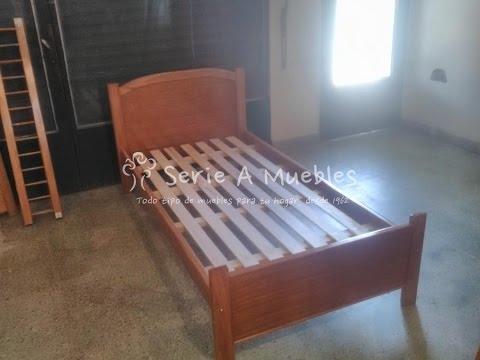Cama de una plaza en madera maciza fabricantes youtube - Cama individual con cajones ...