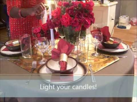 How To Create A Romantic Table Setting Youtube