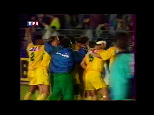 Montpellier-Nantes 1-1 TaB 4-5 Quart de finale de Coupe de France 92-93 Telefoot