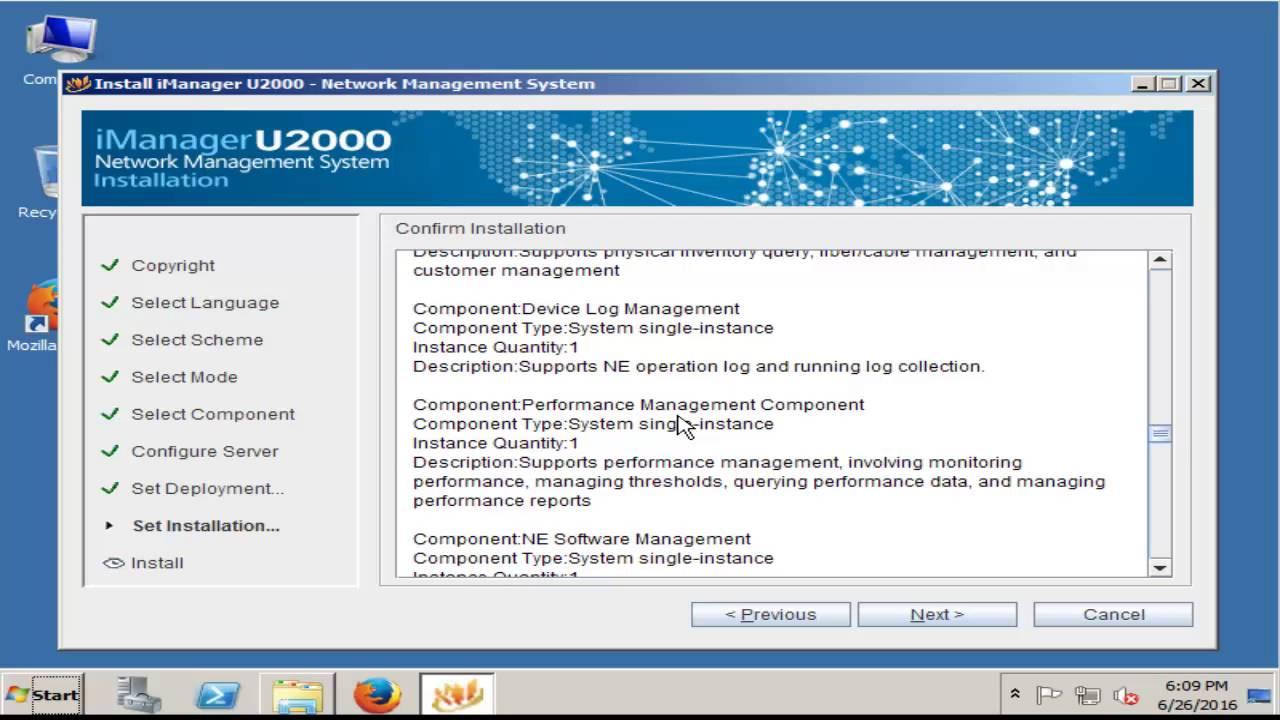 Huawei U2000 R006 NMS Server Install in Windows server 2008 R2 (Full) by  GponSolution com