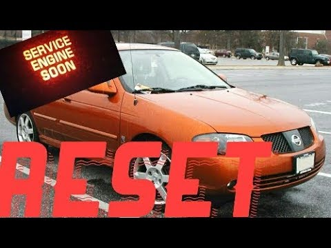 How To Reset Service Engine Soon Light On A 2001 Nissan Sentra Youtube